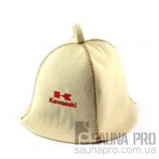 Шапка для сауны (белая), Kawasaki, искусственный фетр, Saunapro