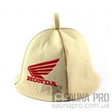 Шапка для сауны (белая), Honda, искусственный фетр, Saunapro