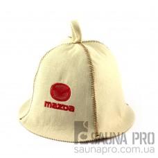 Шапка для сауны (белая), Mazda, искусственный фетр, Saunapro