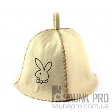Шапка для сауны (белая), Playboy, искусственный фетр, Saunapro