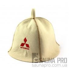 Шапка для сауны (белая), Mitsubishi, искусственный фетр, Saunapro