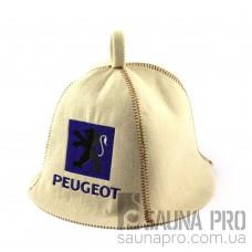 Шапка для сауны (белая), Peugeot, искусственный фетр, Saunapro