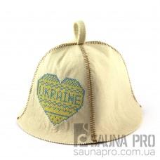Шапка для сауны (белая), Ukraine, искусственный фетр, Saunapro
