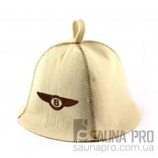 Шапка для сауны (белая), Bentley, искусственный фетр, Saunapro