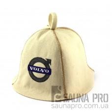 Шапка для сауны (белая), Volvo, искусственный фетр, Saunapro