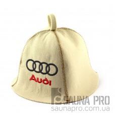 Шапка для сауны (белая), Audi, искусственный фетр, Saunapro