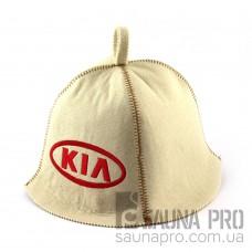 Шапка для сауны (белая), Kia, искусственный фетр, Saunapro