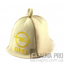 Шапка для сауны (белая), Opel, искусственный фетр, Saunapro