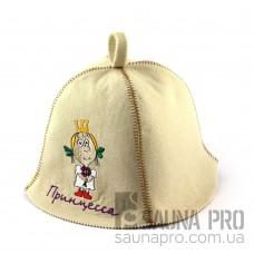 Шапка для сауны (белая), Принцесса, искусственный фетр, Saunapro