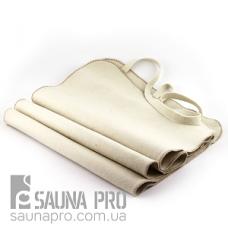 Коврик для сауны светло-серый XL натуральный войлок, Saunapro