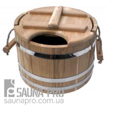 Запарник дубовый для бани 15 л (NS)