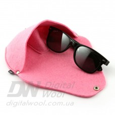 Футляр для очков на кнопке Digital Wool (Color) розовый