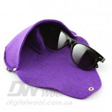 Футляр для очков на кнопке Digital Wool (Color) фиолетовый