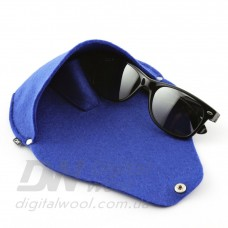 Футляр для очков на кнопке Digital Wool (Color) синий