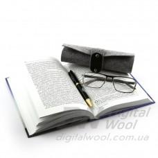 Чехол для очков с ремешком Digital Wool (Premium) серый