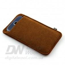 Чехол для телефона Digital Wool (Color) коричневый