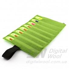 Чехол для карандашей Digital Wool 8 (Color) серо-салатовый