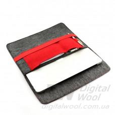 """Чехол для ноутбука Digital Wool Case 13"""" (DW 13-01) с красной резинкой"""