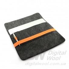 """Чехол для ноутбука Digital Wool Case 13"""" (DW 13-01) с оранжевой резинкой"""