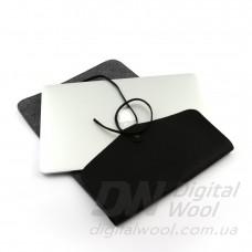 """Чехол для ноутбука Digital Wool Case 13"""" Premium с кожаным клапаном"""