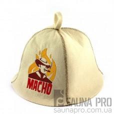 Шапка для сауны (белая), Macho, искусственный фетр, Saunapro