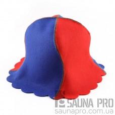 """Шапка для сауны """"ВОЛНА"""", искусственный цветной фетр, Saunapro"""