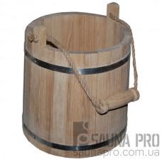 Ведро деревянное 10л (дуб) узкое, Saunapro