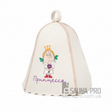"""Шапка для бани """"Принцесса"""" (светло-серый войлок), Saunapro"""
