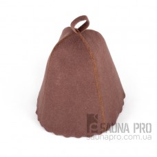 Шапка для бани искусственный войлок (коричневый), Saunapro