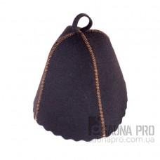 Шапка для бани искусственный войлок (чёрный), Saunapro