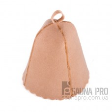 Шапка для бани искусственный войлок (бежевый), Saunapro