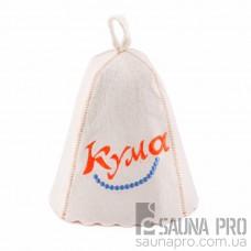 Шапка для бани «Кума» (светло-серый войлок) , Saunapro