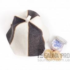 Шапка для бани комбинированный войлок, Saunapro