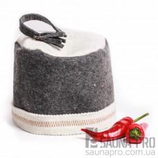 """Шапка для бани """"Феска"""" (серый войлок), Saunapro"""