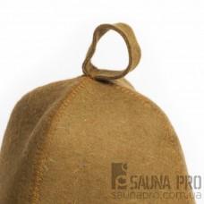 Шапка для бани цветной войлок (коричневый), Saunapro