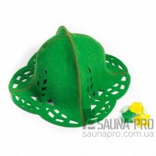 """Шапка для бани """"Зайка"""" (зеленый войлок), Saunapro"""