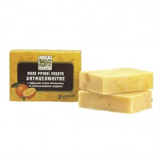 Банное мыло Антицеллюлитное с эфирным маслом апельсина и апельсиновой цедрой, 75 грамм