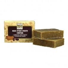 Банное мыло Скраб с эфирным маслом корицы и молотым кофе, 75 грамм