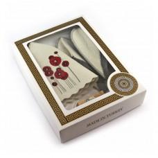 Подарочный набор для сауны №1 Маки, для нее, Saunapro