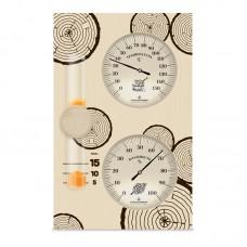 Термогигрометр с часами 2, Saunapro