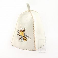 """Набор для бани белый войлок """"Пчелка"""", Saunapro"""