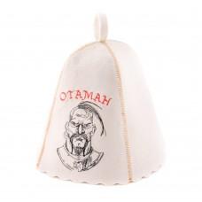 """Шапка для бани """"Отаман"""" (светло-серый войлок), Saunapro"""