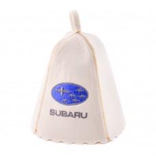 """Шапка для бани """"Субару"""" (светло-серый войлок), Saunapro"""