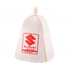 """Шапка для бани """"Сузуки"""" (светло-серый войлок), Saunapro"""