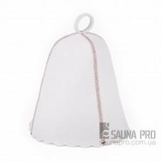 Шапка для бани искусственный войлок (белый), Saunapro