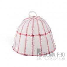 """Шапка для бани """"Клетка"""" (светло-серый войлок), Saunapro"""